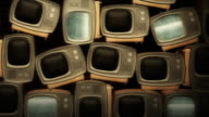 Retro TV with static V4 video