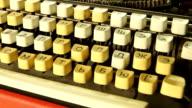 Retro typewriter rotates video