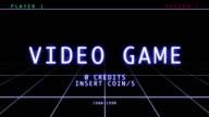 Retro Video Game - Menu video