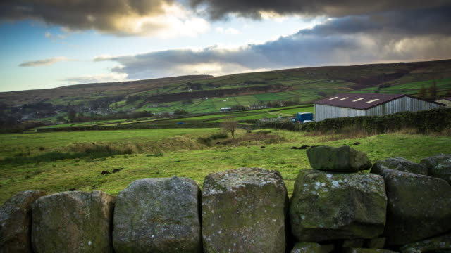 Reveal Time Lapse of Yorkshire Farm video