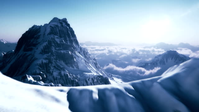 Revealing a mountain peak video