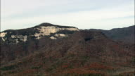 Revealing Table Rock Mountain  - Aerial View - South Carolina,  Pickens County,  United States video