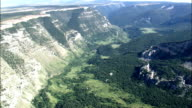 Revealing Valley In Bighorn Mountains  - Aerial View - Montana, Big Horn County, United States video