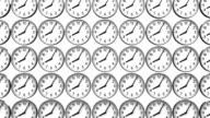 Reverse Clocks On White Background video