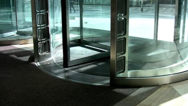 Revolving door. video