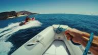POV Rhib sailing in summer vacations video