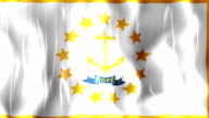 Rhode Island State Flag Animation video