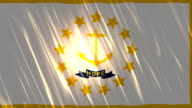 Rhode Island State Loopable Flag video