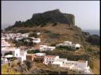 Rhodes, Greece: Village at Acropolis of Lindos Ruins video