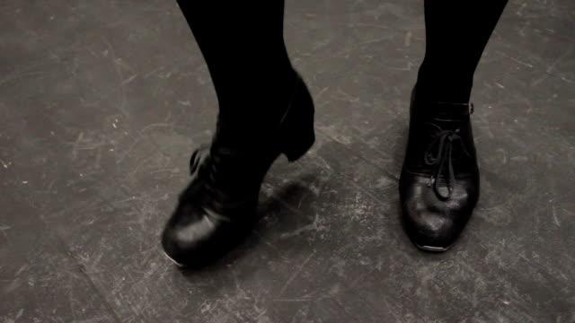 Rhythmic dance steps. video