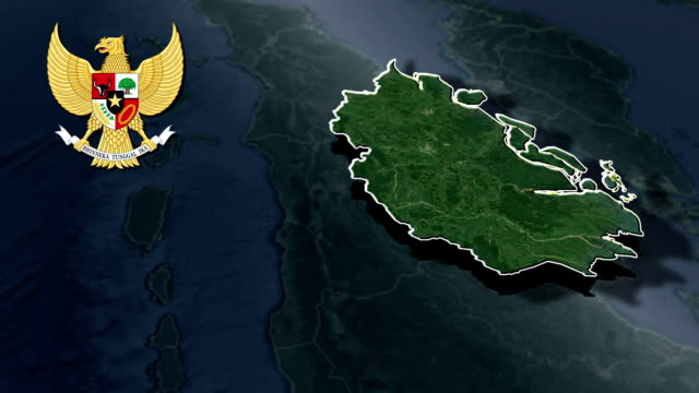 Riau with Coat Of Arms Animation Map video