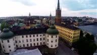 Riddarholmen Sweden Aerial video
