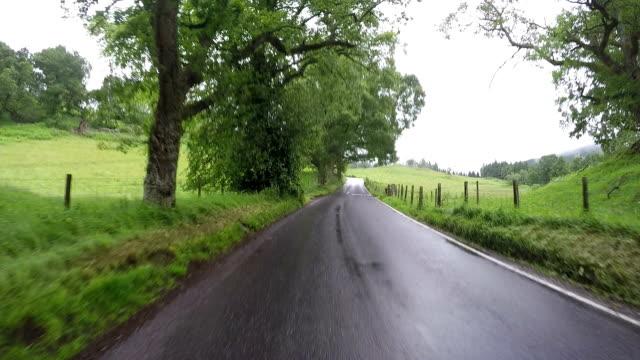Ride through scottish landscape, fast forward video