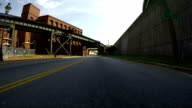 Ride Thru Dock Street Flood Wall video