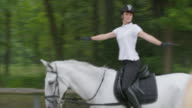 TS Rider training on the horse in the longe video