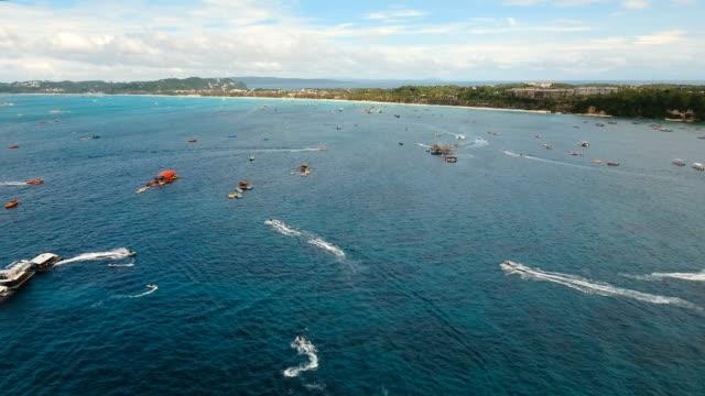 Riders on jet ski. Boracay island Philippines video