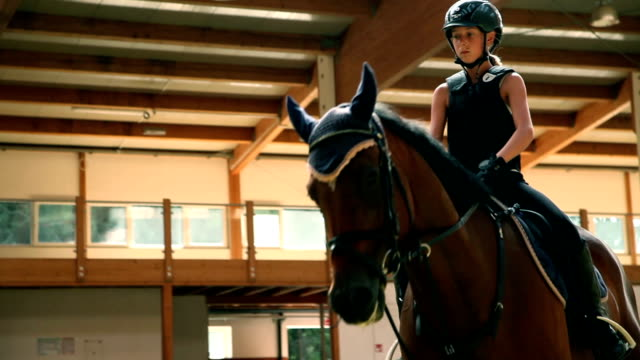 HD STOCK: Riding a horse video