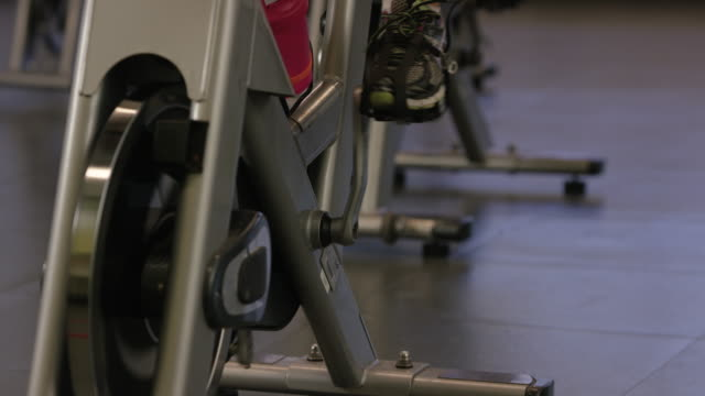 Riding an Indoor Cycle video