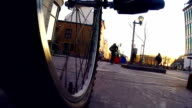POV -Riding Bicycle in City Traffic video