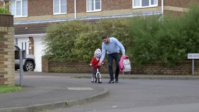 Riding bike to school video