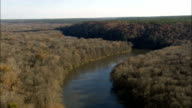 Riding Congaree River  - Aerial View - South Carolina,  Richland County,  United States video