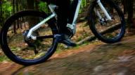GIMBAL Riding Electric Mountain Bike POV (4K/UHD to HD) video