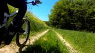 POV Riding Electric Mountain Bike In Spring video