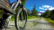 POV Riding Electric Mountainbike In Alpine Landscape video