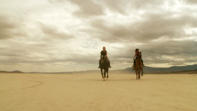 Riding Horses in the Dessert 02 video