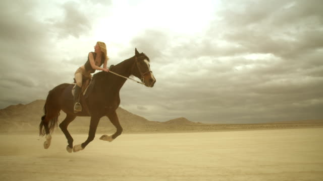 (Slow Motion) Riding Horses in the Dessert 05 video