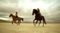 (Slow Motion) Riding Horses in the Dessert 07 video