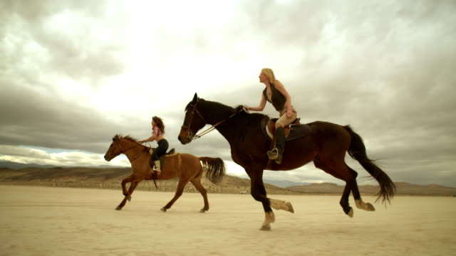(Slow Motion) Riding Horses in the Dessert 08 video