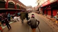 Riding in a Foot Pulled Rickshaw Kolkata, India video