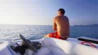 Riding speedboat 4K video
