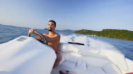 Riding speedboat 4K video