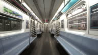 POV - Riding the subway in New York video
