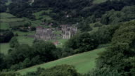 Rievaulx Abbey - Aerial View - England, North Yorkshire, Ryedale District, United Kingdom video