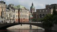 Riksbron an arch bridge in Stockholm video