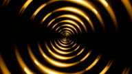 ring lens flare gold animated background video