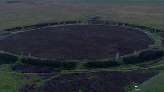 Ring Of Brodgar  - Aerial View - Scotland, Orkney Islands, United Kingdom video