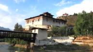 rinpung dzong in paro, bhutan video