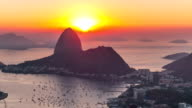 Rio Cityscape Time Lapse Sunrise Zoom video