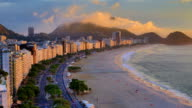 Rio De Janeiro, Brazil: Copacabana: day to night video