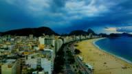 Rio De Janeiro, Brazil: Copacabana : during storm video