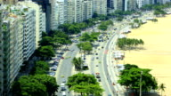 Rio De Janeiro, Brazil: Copacabana : Pan up video