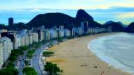 Rio De Janeiro, Brazil: Copacabana : Zoom out video