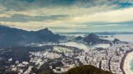Rio de Janeiro panning panorama Time Lapse, Brazil video