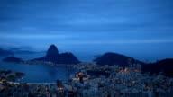Rio de Janeiro Panorama at Dusk from Dona Marta video