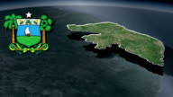 Rio Grande do Norte white Coat of arms animation map video