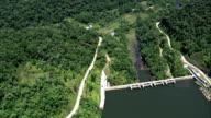Rio Juquia And Dam  - Aerial View - São Paulo, Brazil video